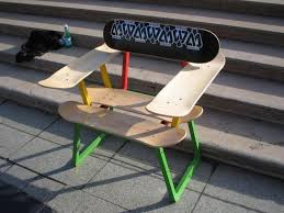skateboard chairs ecologyprojects ian and elleven s skateboard chair
