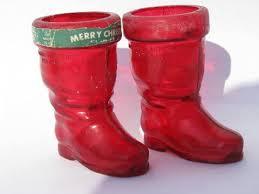 vintage decorations ornaments lot santa boots