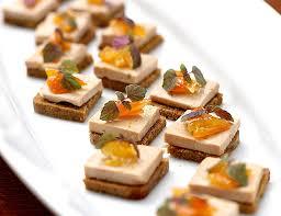 canap foie gras carre d epices canapés with foie gras and a dot of orange