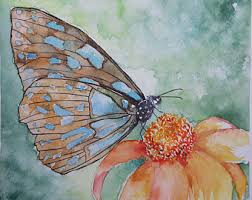 butterfly painting etsy