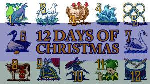 carol twelve days of christmas emporium of words