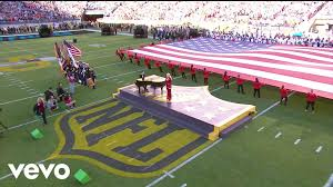 29 Star Flag Lady Gaga Star Spangled Banner Live At Super Bowl 50 Youtube