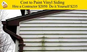 cost to paint vinyl siding youtube
