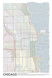 Map Of Chicago Downtown by Review Of Typographic Map Of Chicago Munetz Cartographic