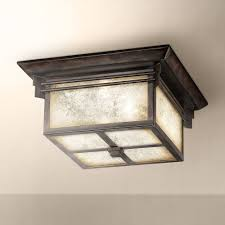 Outdoor Flush Mount Ceiling Light Franklin Iron Works Hickory Point Flushmount Light Close To