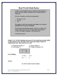world math examples ratios and proportions worksheets 6th 7th grade