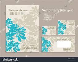 Business Card Invitation Vector Template Business Artworks Folder Business Stock Vector