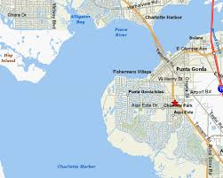 punta gorda fl map county map featuring punta gorda and port