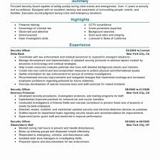 security officer resume security officer resume format inspirational security guard resume