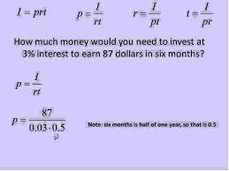simple interest i u003d prt simplifying math youtube