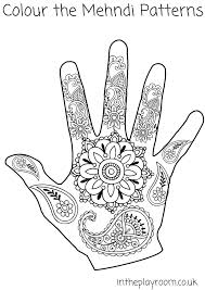 beautiful mehndi hand designs coloring pages kids aim