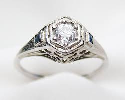circa 1920 diamond filigree ring art deco white gold engagement ring