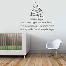 winnie the pooh bedroom winnie the pooh and christopher robin wherever you go quote