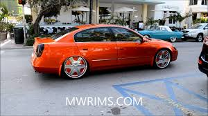 nissan altima for sale in miami nissan altima bagged kandy paint on dub floaters south beach miami