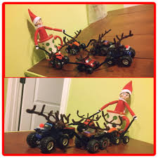 27 creative unique elf ideas honeysuckle footprints elf on the shelf ideas creative unique elf ideas monster truck reindeer