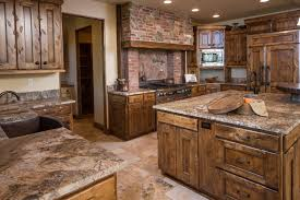 water tower inspired home view near patio door rustic kitchen