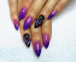 acrylic nails infill pink purple mood gel polish youtube