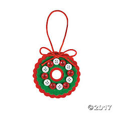 white button wreath ornament craft kit