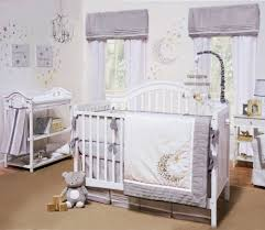Moon Crib Bedding Nuit Gray White Celestial Moon And Neutal Crib Bedding By