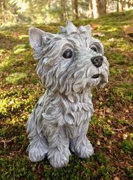 yorkshire terrier garden statue yorkie figure dog garden