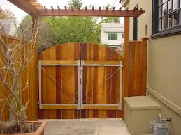 beautiful brown wood stainless simple design fence gate f