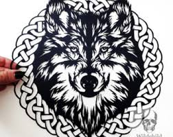celtic wolf design etsy