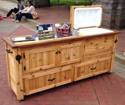 Patio Serving Table Patio Ideas Rustic Cooler Cabinet Outdoor Bar Serving Table By