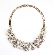 crystal collar statement necklace images Cluster pearl bib crystal and pearl bauble necklace by jpg