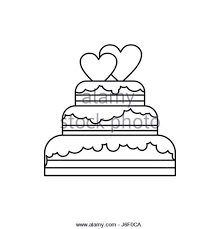 wedding cake outline heart ribbon outline vector stock photos heart ribbon