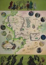 entire middle earth map tolkien annotated map of middle earth acquired by bodleian library