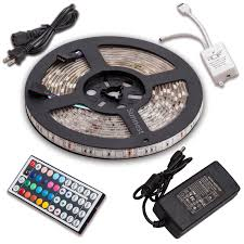 led color changing light strips sunnest 16 4ft 5m waterproof flexible led strip lights 5050smd rgb