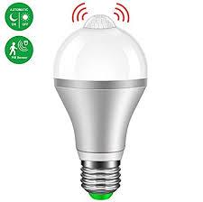pir led light bulb amazon com motion sensor light bulb minger 9w smart pir led bulbs