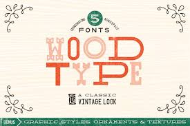 wood type font collection display fonts creative market