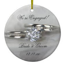 engagement ring ornaments keepsake ornaments zazzle