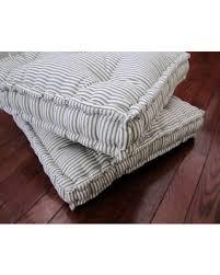 spectacular deal on ticking floor pillow tufted floor cushion