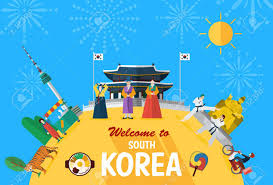 korean design flat design illustration of korean landmarks and icons royalty