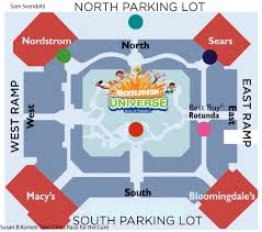 Portland Parking Map Map Of Mall America Portland Oregon And Parking Pointcard Me