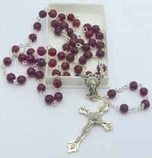 birthstone rosary birthstone rosary july ruby catholic gifts