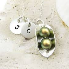 pearl necklace names images Jc jewelry design two peas in a pod necklace with two initial jpg