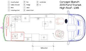 type b motorhome floor plans 2015 ford transit lwb concept layout includes murphy bed that