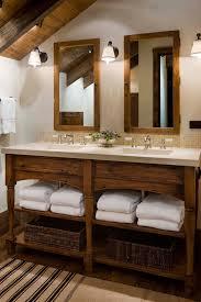 Rustic Bathroom Lighting - bathroom vanity ideas powder room rustic with bathroom lighting