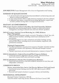 Resume Executive Summary Examples Jospar by Project Resume Format Elegant Construction Project Manager Resume