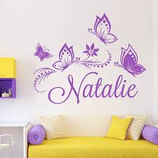 28 personalised name wall stickers for kids personalized personalised name wall stickers for kids personalized custom butterflies butterfly flower name