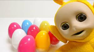 teletubbies laa laa open surprise egg