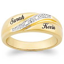 wedding band names buy 18k gold sterling men s diamond accent name wedding band
