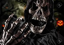 halloween stock background grim reaper on a dark background halloween background stock