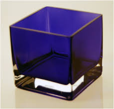 Small Square Vases Blue Square Vase Vases For Centerpieces