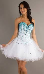 awesome prom dresses awesome white and blue prom dress photos styles and ideas