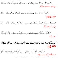 recreate coca cola u0027s logo with these spencerian script fonts