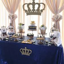 decorations for a baby shower a royal prince or king themed baby shower